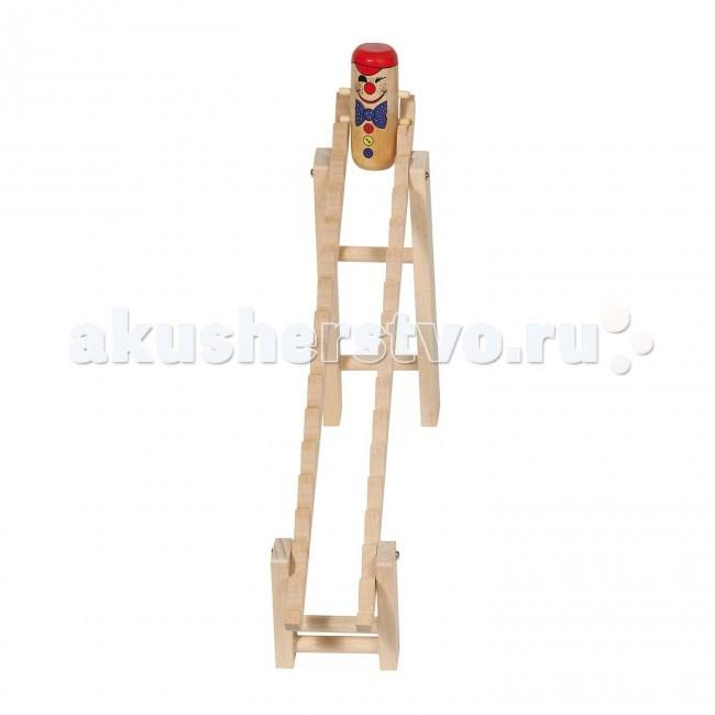 Деревянная игрушка Goki Клоун на лесенке