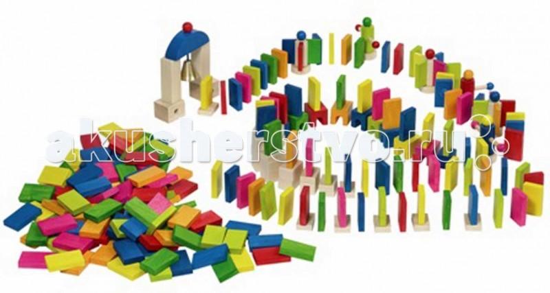 Деревянная игрушка Goki Конструктор Домино