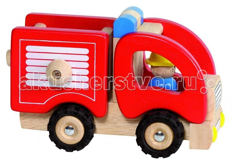 Деревянная игрушка Goki Машинка Пожарная