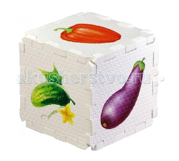 Робинс Кубик EVA ОвощиКубик EVA ОвощиНабор состоит из 6 больших деталей-пазлов, которые можно собрать в объёмный кубик. Собирая кубик и играя с этими деталями-пазлами, малыши тренируют мелкую моторику, развивают мышление, память, внимание, а также получают навыки творческого конструирования.  Детали-пазлы сделаны из экологически чистого и гипоаллергенного материала ЭВА (EVA), который не имеет цвета, запаха и вкуса, а значит, идеально подходит для первых развивающих игрушек и игр для самых маленьких детей.  В чём его особенности: • детали-пазлы можно грызть, мять, гнуть, сжимать и мочить, и при этом они не испортятся;  • с набором можно играть в ванной, детали плавают в воде и легко крепятся к кафелю и стенкам ванной; • уникальная технология печати картинок на пазлах передаёт все оттенки цветов, и дети быстрее учатся узнавать нарисованные на них предметы в окружающем мире;  • набор идеально подходит для развития детской моторики, сенсорики, навыков конструирования; • детали-пазлы из разных наборов подходят к друг другу, вы легко можете комбинировать разные наборы.<br>