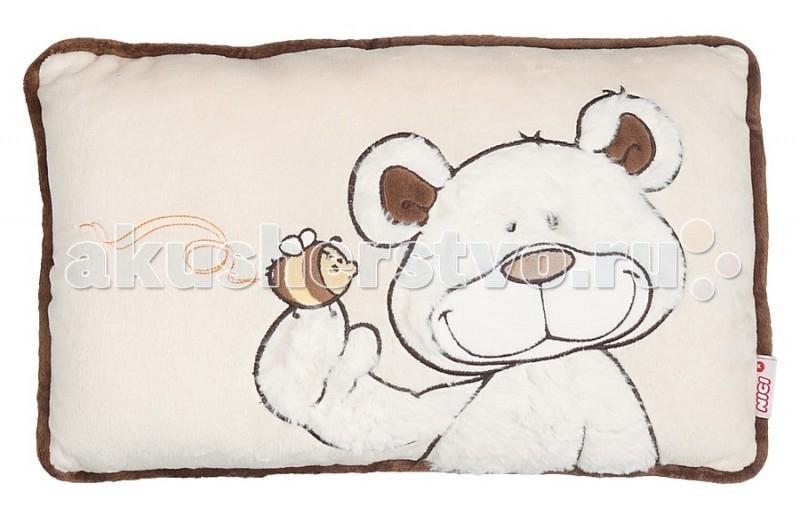 Nici Подушка Медвежонок кремовый 43x25 см