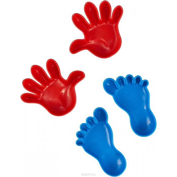 Gowi Набор формочек для песка Ручки и ножкиНабор формочек для песка Ручки и ножкиGowi Набор формочек Ручки и ножки из качественного и яркого пластика.  Особенности: Все предметы набора имеют гладкую поверхность, ими приятно и безопасно играть.  Игры в песке способствуют развитию мелкой моторики и фантазии ребенка.<br>