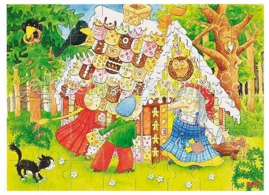 Деревянная игрушка Goki Пазл в коробке Ганс и Гретель 48 деталей