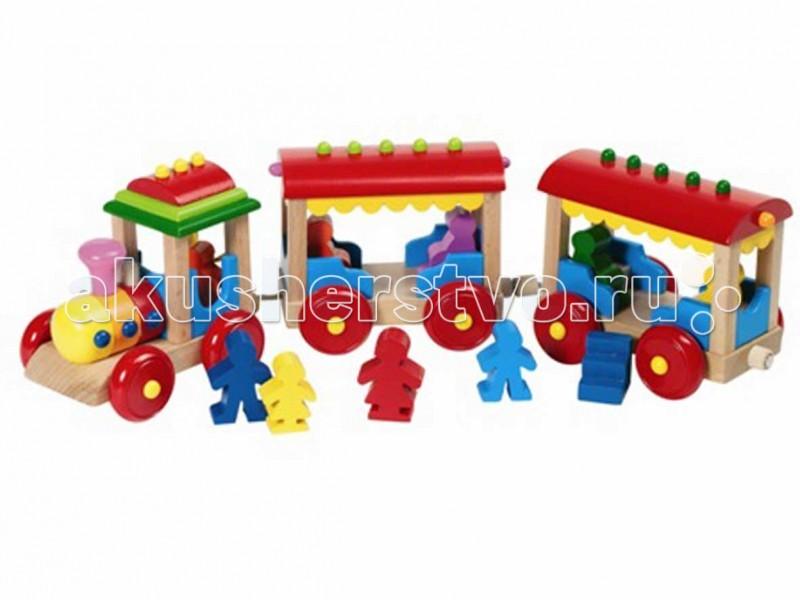 Деревянная игрушка Goki Паровозик Борнхольм