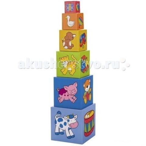 Деревянная игрушка Goki Пирамидка из кубиков