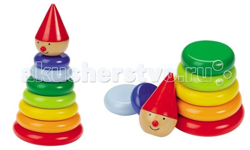 Деревянная игрушка Goki Пирамидка магнитная Нимо
