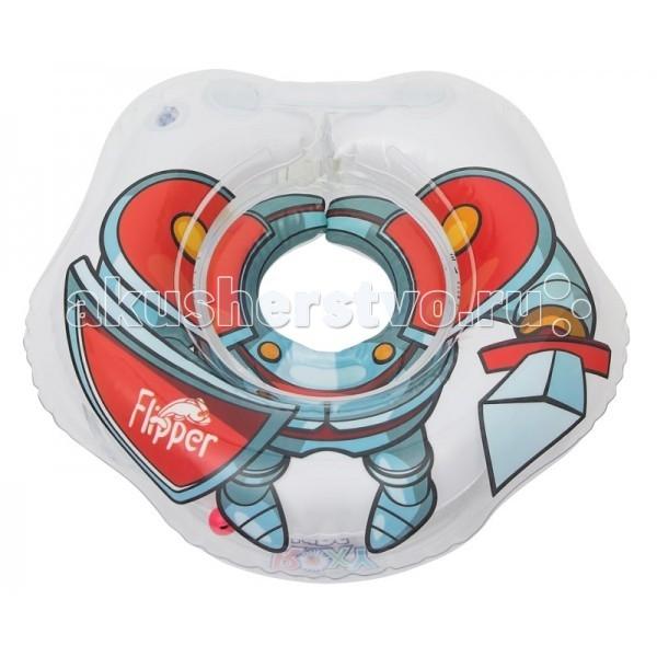 Круг для купания Roxy Flipper Рыцарь для купания малышейFlipper Рыцарь для купания малышейПлавательный круг Flipper сделан специально для самых маленьких рыцарей – от 0 до 2 лет, сделан из высококачественного ПВХ материала, хорошо развивает плавательный рефлекс малышей, улучшает тонус мышц и поднимает всем настроение!   Круг Flipper Рыцарь традиционного имеет запатентованную технологию Круг в круге , т.е. 2 отдельные воздушные камеры, в которых находятся шарики-погремушки, специальную выемку для подбородка малыша с целью фиксации круга на шее, удобные полукруглые ручки, за которые малыш может хвататься, развивая моторику и хватательные рефлексы, 2 практичных застежки (карабин и липучка) для удобной и простой фиксации круга во время купания.  Помните! Только в кругах на шею Flipper подлинно присутствует сглаженный внутренний шов, который мягко прилегает к шее малыша и не травмирует нежную кожу новорожденного.  Материал: ПВХ Для детей весом до 18 кг Для детей от 0 месяцев до 2 лет Размер: 390-360 мм<br>