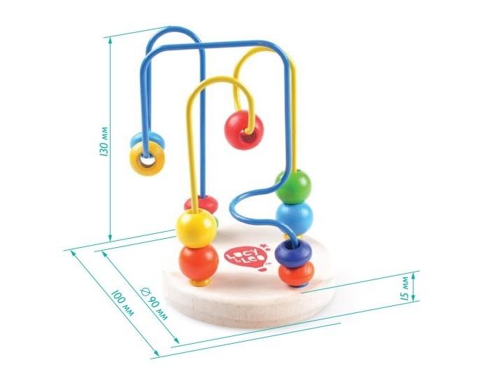 Деревянная игрушка Lucy &amp; Leo Лабиринт 2Лабиринт 2Lucy & Leo Деревянная игрушка Лабиринт 2.  Представляем вашему вниманию еще одну качественную развивающую игрушку компании Lucy&Leo Лабиринт с бусинками № 2. Это оригинальная и в то же время не сложная игрушка, которая представляет собой деревянную подставку с яркими дорожками, закрученными в виде лабиринта.   По этим дорожками малышу нужно передвигать деревянные бусинки разной формы и цвета. Такое занятие не только увлечет кроху, но и будет способствовать развитию координации движений, логики и воображения. Выбирайте своему любимому крохе только самые лучшие и безопасные игрушки, такие как Лабиринт с бусинками № 2 Lucy&Leo!  Особенности: малыш освоится в понятиях формы начнет знакомство со своими первыми цветами помимо всего прочего, игра с лабиринтом стимулирует координацию движений, ведь чтобы бусинки преодолели путь, нужны точные движения но главное, что игра с лабиринтом – это развитие пространственного мышления.<br>