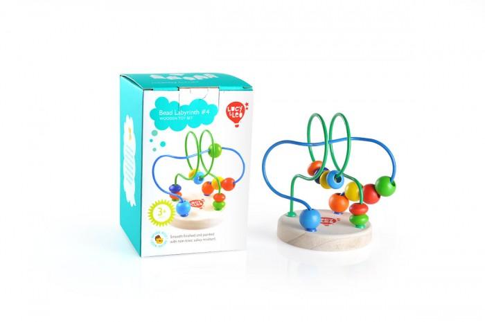 Деревянная игрушка Lucy &amp; Leo Лабиринт 4Лабиринт 4Lucy & Leo Деревянная игрушка Лабиринт 4.  Представляем вашему вниманию еще одну качественную развивающую игрушку компании Lucy&Leo Лабиринт с бусинками № 4. Это оригинальная и в то же время не сложная игрушка, которая представляет собой деревянную подставку с яркими дорожками, закрученными в виде лабиринта.   По этим дорожками малышу нужно передвигать деревянные бусинки разной формы и цвета. Такое занятие не только увлечет кроху, но и будет способствовать развитию координации движений, логики и воображения. Выбирайте своему любимому крохе только самые лучшие и безопасные игрушки, такие как Лабиринт с бусинками № 4 Lucy&Leo!  Особенности: малыш освоится в понятиях формы начнет знакомство со своими первыми цветами помимо всего прочего, игра с лабиринтом стимулирует координацию движений, ведь чтобы бусинки преодолели путь, нужны точные движения но главное, что игра с лабиринтом – это развитие пространственного мышления.<br>