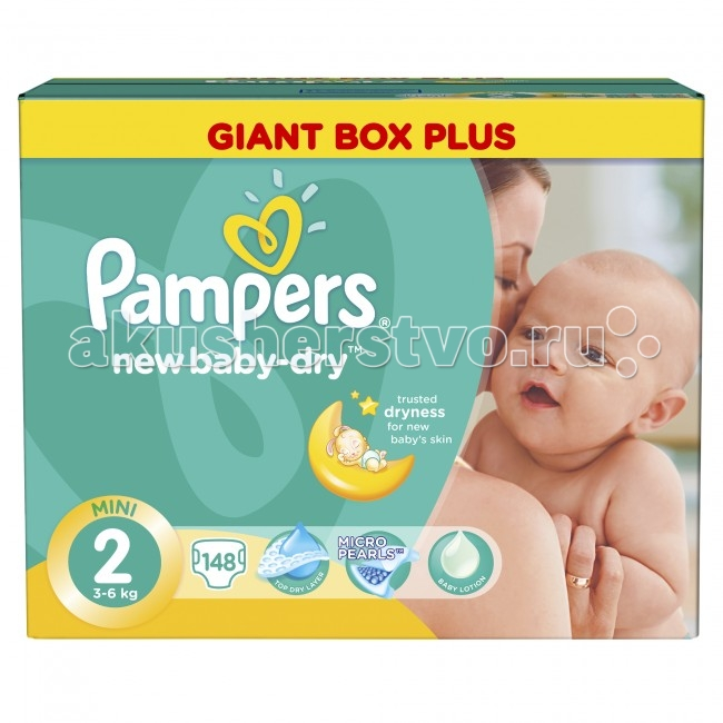 Pampers ���������� New Baby-Dry 3-6 �� 148 ��.