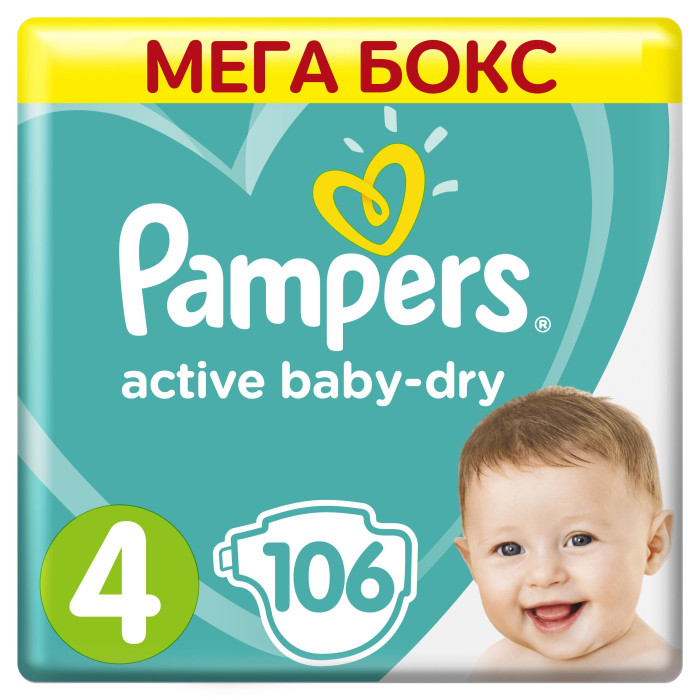 Pampers ���������� New Baby-Dry 7-14 �� 106 ��.