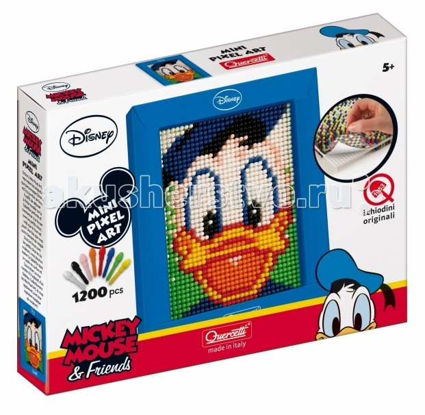Настольная игра Пиксельная мозаика серии Мини Дональд из 1200 элементов