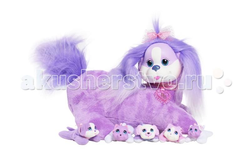 Мягкая игрушка Just play Собачка Кэнди и ее щенкиСобачка Кэнди и ее щенкиМягкая игрушка Just play Собачка Кэнди и ее щенки. У Кэнди будут щенки! Угадай, сколько щенков родится? Это сюрприз! Раскрой кармашек на животике собачки. Там ты найдешь 3, может быть, или 4, или даже 5 щенков! Могут родиться девочки и мальчики, близнецы или щенок-малютка. Ещё сюрприз! Один щенок может лаять.   В наборе: мягкая игрушка (собачка), 3-5 щенков. 2520<br>