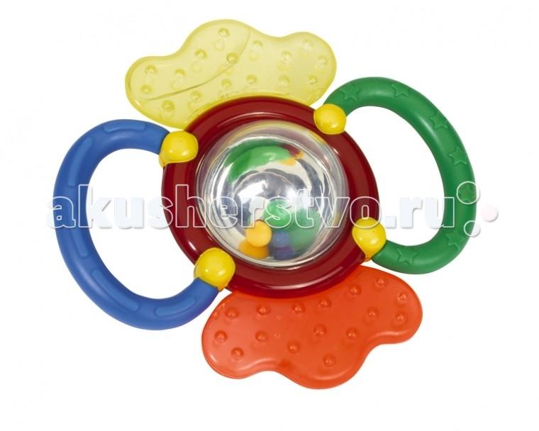 Погремушка Simba АВС для малышаАВС для малышаЯркая разноцветная погремушка-трещотка поможет развить слух и тактильные навыки у малыша, а также будет отвлекать его от болевых ощущений при прорезывании зубов.   По бокам располагаются охлаждающие вставки, внутри которых находится жидкость, в случае повреждения вставок, жидкость безвредна для малыша.  Изготовлена из высококачественных материалов.  Размер 12 см.<br>