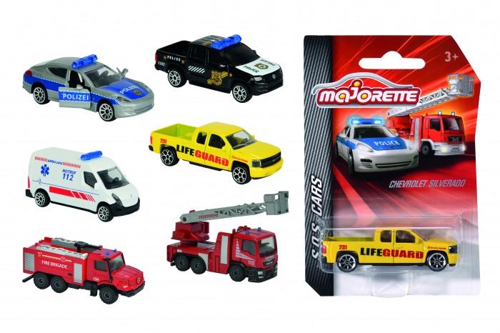 Majorette Автомобиль SOS 7.5 смАвтомобиль SOS 7.5 смЭти автомобили принадлежат службам экстренного вызова: полиции, спасателям, пожарным и скорой - тем, кто готов прийти на помощь в любой момент.   Машинки имеют соответствующие маркировки и раскрашены в цвета реальных прототипов.   Достаточно выбрать одну из них - и можно ощутить себя отважным героем.  Размер машинки: 7.5 см.<br>