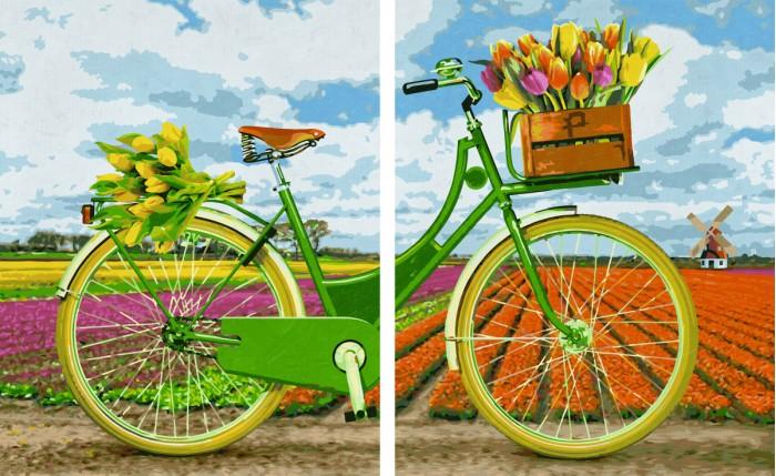 Раскраска Schipper Картина по номерам Диптрих Голландский велосипед 80х50 смКартина по номерам Диптрих Голландский велосипед 80х50 смКартина по номерам Диптрих Голландский велосипед 80х50 см - это превосходный выбор для юного художника! С этим набором ваш ребенок сможет самостоятельно нарисовать шедевр, который затем можно будет гордо показывать вашим гостям! И все это - совсем нетрудно, ведь при работе с набором используется уникальная система, разработанная немецкой фирмой Schipper.   Раскраски развивают в ребенке творческие способности, малыш учится рисовать, стремится к прекрасному, может проявить фантазию, сочетая разные оттенки между собой.   Особенности:   Основа для картины имеет льняную структуру, поэтому готовая картина выглядит как настоящее произведение искусства.  Картина раскрашивается без смешивания красок.  Все необходимые цвета красок есть в комплекте. Просто закрашивайте участки красками с соответствующим номером.  В набор также входит фактурная картонная основа с пронумерованными контурами, кисть и контрольный лист, на котором вы можете потренироваться, прежде чем переходить к раскрашиванию основного листа.  Акриловые краски в данном наборе содержатся в очень плотно закрытых контейнерах. Благодаря этому, краски доходят до покупателя, сохранив свои свойства.  Размер: 80х50 см<br>