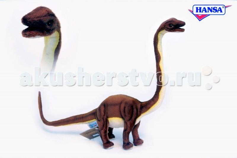 Мягкая игрушка Hansa Маменчизавр 62 смМаменчизавр 62 смМягкая игрушка Hansa Маменчизавр 62 см является результатом ручной работы филиппинских дизайнеров. Она имеет детальную проработку, благодаря чему игрушка в точности повторяет внешний вид настоящего животного.   У игрушки применен гибкий каркас, он дает возможность придавать ей необходимое положение - поворачивать голову, сгибать лапы.   Играя с такой натуралистичной игрушкой, у ребенка будет формироваться правильное представление об окружающей природе. Даже когда ребенок вырастет, игрушка может оставаться частью интерьера, украшением помещения.  Забавная мягкая игрушка пошита и набита вручную. Она выполнена из искусственного меха, прошедшего специальную обработку для придания игрушке более реалистичного вида.<br>