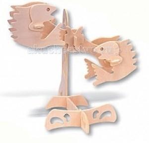 Конструктор МДИ Сборная модель РыбыСборная модель РыбыСборная модель МДИ Рыбы зодиак.  Сборная модель из серии Знаки Зодиака Деревянные игрушки направлены на развитие пространственного и логического мышления, развитие мелкой мышечной моторики, внимания, памяти, подготавливают руку к письму. Выполнен из экологически чистой древесины, не содержит формальдегид. Детали выдавливаются из фанерной доски и собираются согласно инструкции.   Лучше всего проклеивать места соединения клеем сразу при сборке, так собранная Вами модель будет долго служить Вам и радовать Вас. Вы можете раскрасить Вашу модель, используя любые краски. В этом случае нужно заранее продумать как общий дизайн модели, так и окраску каждой детали. Производитель рекомендует использовать темперные краски. После можно покрыть лаком.<br>