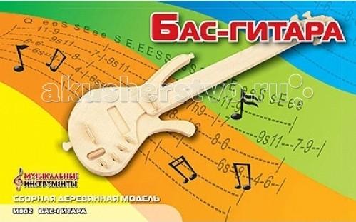Конструктор МДИ Сборная модель Бас-гитараСборная модель Бас-гитараСборная модель МДИ Бас-гитара.  Сборная модель направлена на развитие пространственного и логического мышления, развитие мелкой мышечной моторики, внимания, памяти, подготавливают руку к письму. Выполнена из экологически чистой древесины, не содержит формальдегид. Детали выдавливаются из фанерной доски и собираются согласно инструкции.   Лучше всего проклеивать места соединения клеем сразу при сборке, так собранная Вами модель будет долго служить Вам и радовать Вас. Вы можете раскрасить Вашу модель, используя любые краски. В этом случае нужно заранее продумать как общий дизайн модели, так и окраску каждой детали. Производитель рекомендует использовать темперные краски. После можно покрыть лаком.<br>