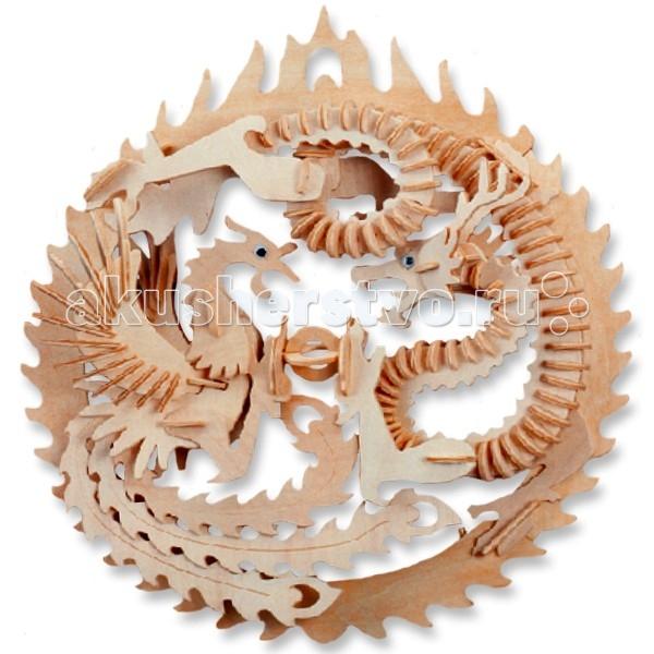 Конструктор МДИ Сборная модель Дракон и ФениксСборная модель Дракон и ФениксСборная модель МДИ Дракон и Феникс.  Сборная модель направлена на развитие пространственного и логического мышления, развитие мелкой мышечной моторики, внимания, памяти, подготавливают руку к письму. Выполнена из экологически чистой древесины, не содержит формальдегид. Детали выдавливаются из фанерной доски и собираются согласно инструкции.   Лучше всего проклеивать места соединения клеем сразу при сборке, так собранная Вами модель будет долго служить Вам и радовать Вас. Вы можете раскрасить Вашу модель, используя любые краски. В этом случае нужно заранее продумать как общий дизайн модели, так и окраску каждой детали. Производитель рекомендует использовать темперные краски. После можно покрыть лаком.<br>
