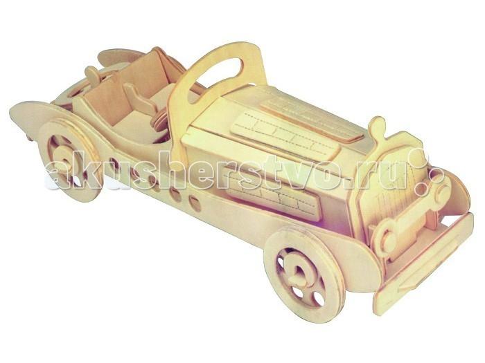 Конструктор МДИ Сборная модель МерседесСборная модель МерседесСборная модель МДИ Мерседес.  Это конструктор для мальчиков, с его помощью можно собрать модель автомобиля марки Мерседес. В комплект входят несколько фанерных листов с выпиленными частями: колесами, бампером, рулем и пр. Детали машины легко собираются скрепляются при помощи специальных разъемов, без клея. Для сборки машины к набору прилагается инструкция, картинка-схема, следуя ней части Мерседеса необходимо собирать в порядке нумерации: вначале 1:1, потом 2:2, 3:3 и т.д.   Когда ребенок научится собирать/разбирать модель, ее детали можно склеить ПВА, смазывая им места соединения, а потом модель раскрасить любыми красками, но лучше подойдут темперные. После покраски машину можно покрыть лаком и использовать для игр или как стильное украшение детской комнаты. Деревянная игрушка Мерседес может быть прекрасным подарком для кого-либо из старших членов семьи, что будет хорошим мотиватором для работы.  Детские игрушки из дерева таят в себе глубокий смысл, это единение с природой, и ваш оберег. Деревянные детские игрушки раскрывают сказочный мир, который живет внутри нас, вместе с ними сказка оживает.<br>