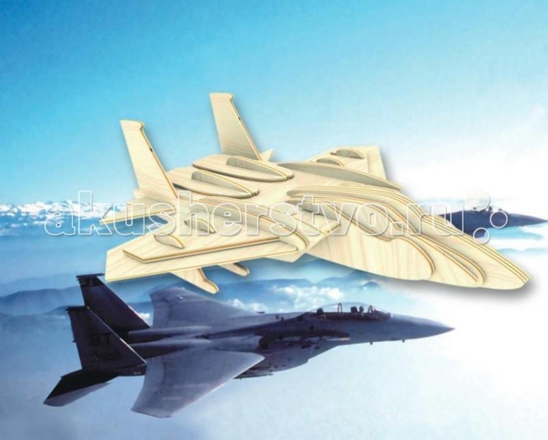 Конструктор МДИ Сборная модель Самолет F15Сборная модель Самолет F15Сборная модель МДИ Самолет F15.  Сборная модель направлена на развитие пространственного и логического мышления, развитие мелкой мышечной моторики, внимания, памяти, подготавливают руку к письму. Выполнена из экологически чистой древесины, не содержит формальдегид. Детали выдавливаются из фанерной доски и собираются согласно инструкции.   Лучше всего проклеивать места соединения клеем сразу при сборке, так собранная Вами модель будет долго служить Вам и радовать Вас. Вы можете раскрасить Вашу модель, используя любые краски. В этом случае нужно заранее продумать как общий дизайн модели, так и окраску каждой детали. Производитель рекомендует использовать темперные краски. После можно покрыть лаком.<br>