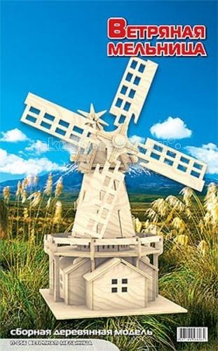 Конструктор МДИ Сборная модель Ветряная мельницаСборная модель Ветряная мельницаСборная модель МДИ Ветряная мельница.  Набор Ветряная мельница - представляет собой экологически чистый набор деревянных деталей для конструирования сборной деревянной модели. Набор не похож на обычный конструктор-пазл, что непременно понравится ребенку. Очень важной особенностью является то, что игрушка выполнена из экологически чистого дерева. Детали выдавливаются из фанерной доски и собираются согласно инструкции. Лучше всего проклеивать места соединения клеем сразу при сборке, так собранная Вами модель будет долго служить.   Особенностью этого набора является то, что ребенок может не только собрать и склеить модель но и по своему усмотрению красочно раскрасить её используя любые краски. В этом случае нужно заранее продумать как общий дизайн модели, так и окраску каждой детали. Производитель рекомендует использовать темперные краски. После можно покрыть лаком.  Игрушка способствуют развитию: логики памяти внимательности моторики рук усидчивости пространственного и абстрактного мышления ощущения трехмерной формы подготавливает руку к письму.<br>