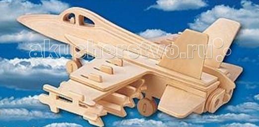 Конструктор МДИ Сборная модель Самолет Ф-18Сборная модель Самолет Ф-18Сборная модель МДИ Самолет Ф-18.  Из серии Воздушный транспорт предлагаем собрать вместе с ребенком самалет F-18. Увлекательная игрушка для совместного времяпровождения родителей и детей. Детали модели гладко обработаны, места соединения деталей рекомендуем проклеевать клеем для прочности и долговечности самолетика. Можно раскрашивать в любые цвета. Коллекция сборных моделей из натурального и безопасного для детей материала пополнится еще одной деревянной фигурой - самолетом-F-18.   Это будет отличным знакомством с разновидностями воздушного транспорта и новым предметом для домашних и уличных игр. С деревянной моделью самолета ребенок может познавать особенности устройства и конструкции воздушных птиц, спецификой летной техники. Играть с деревянным истребителем можно в компании и в одиночку. Ребенок познакомится с разновидностями самолетов - транспортными и боевыми, что всегда интересно мальчишкам с их воинственным характером.   Обтекаемые формы F-18, гладкие и долговечные детали, деревянная основа изделия - все продумано дизайнерами для комфортного и полезного времяпрепровождения детей. Самолет можно раскрасить своими руками водорастворимой краской и использовать как украшение наряду с играми на любой вкус. Детские игрушки из дерева таят в себе глубокий смысл, это единение с природой, и ваш оберег. Деревянные детские игрушки раскрывают сказочный мир, который живет внутри нас, вместе с ними сказка оживает.<br>