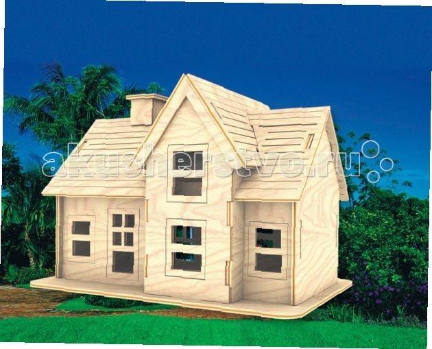 Конструктор МДИ Сборная модель Летний домикСборная модель Летний домикСборная модель МДИ Летний домик.  Сборная модель Летний домик из серии наборов Архитектура, позволяет ребенку самостоятельно собрать достоверную модель летнего домика из нескольких деталей, полностью изготовленных из древесины. Модель хорошо сохраняет форму даже без использования клея, но если вы собираетесь использовать домик долгое время, как украшение или игрушку, требуется проклеить все соединения.   Дерево прекрасно поддается окраске и вы можете использовать для этого любые способы окраски и покрытия лаком. В некоторых случаях требуется окрасить детали до процесса сборки, заранее продумав схему нанесения покрытий. Домик при желании можно украсить декоративными деталями, придав ему праздничный вид.<br>