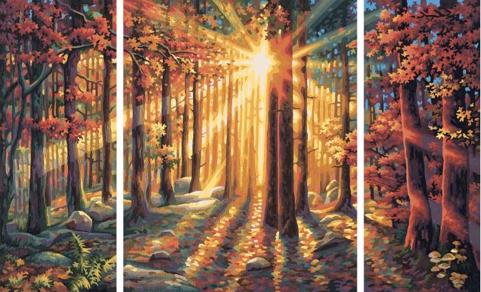 Schipper Картина по номерам Триптих Осенний лес 50х80 смКартина по номерам Триптих Осенний лес 50х80 смКартина по номерам Триптих Осенний лес 50х80 см - это превосходный выбор для юного художника! С этим набором ваш ребенок сможет самостоятельно нарисовать шедевр, который затем можно будет гордо показывать вашим гостям! И все это - совсем нетрудно, ведь при работе с набором используется уникальная система, разработанная немецкой фирмой Schipper.   Раскраски развивают в ребенке творческие способности, малыш учится рисовать, стремится к прекрасному, может проявить фантазию, сочетая разные оттенки между собой.   Особенности:   Основа для картины имеет льняную структуру, поэтому готовая картина выглядит как настоящее произведение искусства.  Картина раскрашивается без смешивания красок.  Все необходимые цвета красок есть в комплекте. Просто закрашивайте участки красками с соответствующим номером.  В набор также входит фактурная картонная основа с пронумерованными контурами, кисть и контрольный лист, на котором вы можете потренироваться, прежде чем переходить к раскрашиванию основного листа.  Акриловые краски в данном наборе содержатся в очень плотно закрытых контейнерах. Благодаря этому, краски доходят до покупателя, сохранив свои свойства.  Размер: 50х80 см<br>