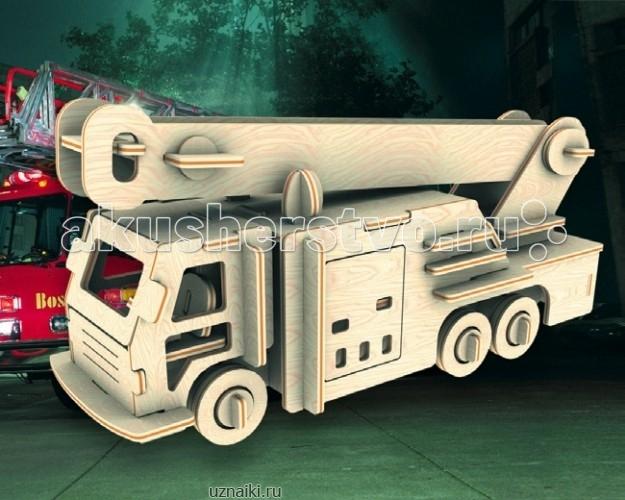 Конструктор МДИ Сборная модель Пожарная машинаСборная модель Пожарная машинаСборная модель МДИ Пожарная машина.  Набор Пожарная машина - представляет собой экологически чистый набор деревянных деталей для конструирования сборной деревянной модели. Набор не похож на обычный конструктор-пазл, что непременно понравится ребенку. Очень важной особенностью является то, что игрушка выполнена из экологически чистого дерева. Детали выдавливаются из фанерной доски и собираются согласно инструкции. Лучше всего проклеивать места соединения клеем сразу при сборке, так собранная Вами модель будет долго служить.  Особенностью этого набора является то, что ребенок может не только собрать и склеить модель но и по своему усмотрению красочно раскрасить её используя любые краски. В этом случае нужно заранее продумать как общий дизайн модели, так и окраску каждой детали. Производитель рекомендует использовать темперные краски. После можно покрыть лаком.  Игрушка способствуют развитию: логики памяти внимательности моторики рук усидчивости пространственного и абстрактного мышления oщущения трехмерной формы подготавливает руку к письму.<br>