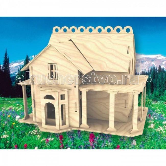Конструктор МДИ Сборная модель ВиллаСборная модель ВиллаСборная модель МДИ Вилла.  Набор Вилла - представляет собой экологически чистый набор деревянных деталей для конструирования сборной деревянной модели. Набор не похож на обычный конструктор-пазл, что непременно понравится ребенку. Очень важной особенностью является то, что игрушка выполнена из экологически чистого дерева. Детали выдавливаются из фанерной доски и собираются согласно инструкции. Лучше всего проклеивать места соединения клеем сразу при сборке, так собранная Вами модель будет долго служить.   Особенностью этого набора является то, что ребенок может не только собрать и склеить модель но и по своему усмотрению красочно раскрасить её используя любые краски. В этом случае нужно заранее продумать как общий дизайн модели, так и окраску каждой детали. Производитель рекомендует использовать темперные краски. После можно покрыть лаком.  Игрушка способствуют развитию: логики памяти внимательности моторики рук усидчивости пространственного и абстрактного мышления oщущения трехмерной формы подготавливает руку к письму.<br>