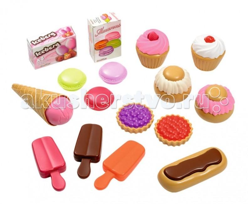 Ecoiffier Набор пирожных в сумке