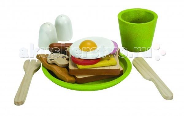 Plan Toys Сюжетно-ролевая игра ЗавтракСюжетно-ролевая игра ЗавтракPlan Toys Сюжетно-ролевая игра Завтрак. Маленькие хозяйки будут в восторге. Для своих кукол они смогут приготовить вкусный завтрак – тосты с яичницей, помидорами, беконом, сосиской, грибами и сыром, блюдо можно приправить солью и перцем по вкусу.   В комплекте:  тарелка чашка солонка перечница хлеб яичница сыр помидоры грибы.  Компания Plan Toys стремится сохранить окружающую среду для будущего наших детей, именно поэтому игрушки становятся еще более экологически чистыми.<br>
