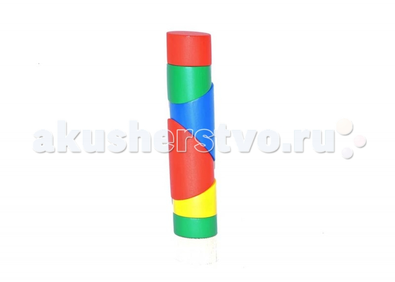 Деревянная игрушка Таис Головоломка Пирамидка цилиндр