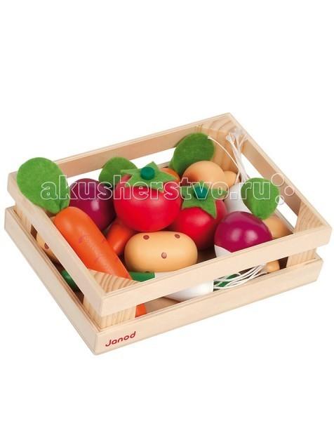 Деревянная игрушка Janod Набор овощей в ящике 12 элементов