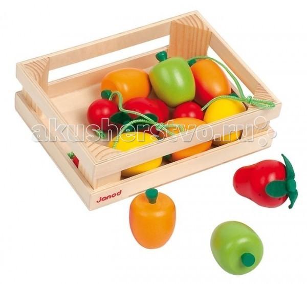 Деревянная игрушка Janod Набор фруктов в ящике 12 элементов