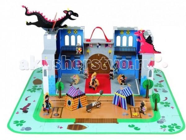 Деревянная игрушка Janod Замок принца 16 пазлов 18 аксессуаров