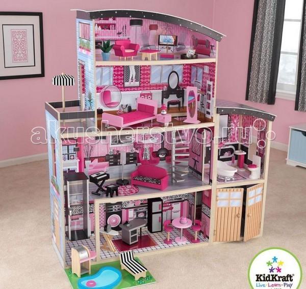 KidKraft Большой кукольный дом Сияние с мебелью 30 элементов