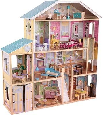 ФОТО kidkraft Большой кукольный дом Великолепный (Королевский) Особняк с мебелью
