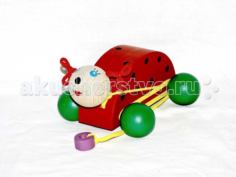 Деревянная игрушка Таис Игрушка - каталка Божья коровка