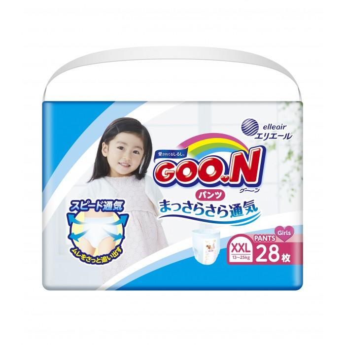 GooN Подгузники-трусики для девочек BIG (13-25 кг) 28 шт.