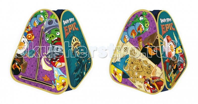 1 Toy Angry Birds Epic детская игровая палатка в сумке