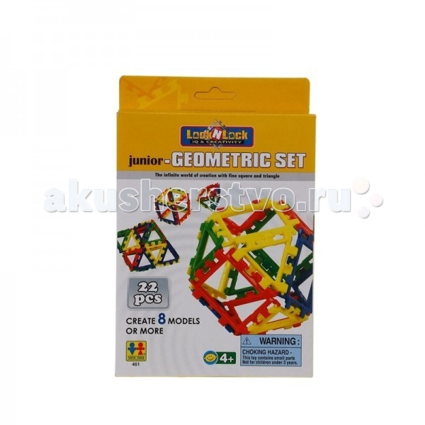 Конструктор Tototoys Lock N Lock - Junior-Geometric Set 22 детали