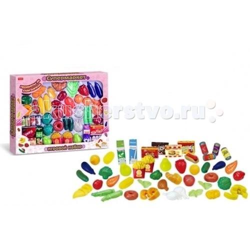 Zhorya Игровой набор продуктов 60 шт.Игровой набор продуктов 60 шт.Zhorya Игровой набор продуктов 60 шт. - потрясающий комплект игрушечных продуктов для детской кухни, который подходит детям от 3 лет и изготовлен из безопасных и качественных материалов!   Множество красочных, разноцветных аксессуаров понравится любому малышу!<br>