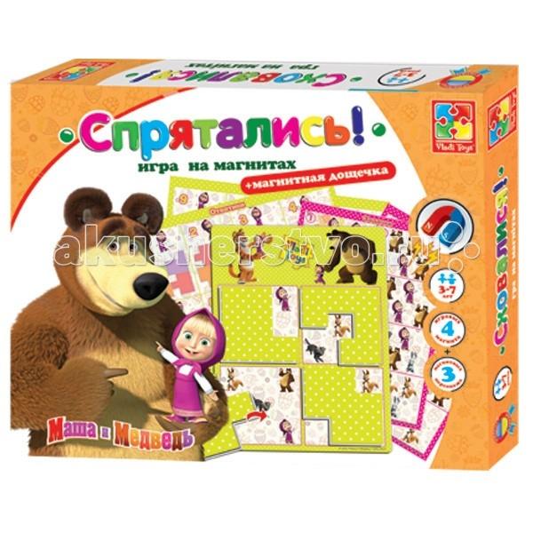 Vladi toys Игра на магнитах Спрятались Маша и медведь