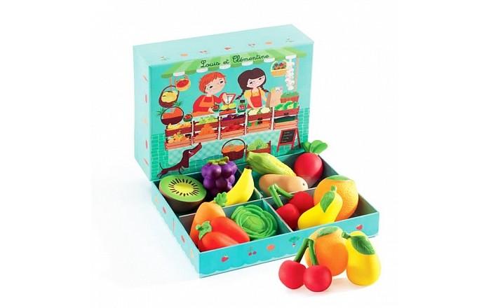 Djeco Сюжетно-ролевая игра Луис и КлементинаСюжетно-ролевая игра Луис и КлементинаДеревянная игрушка Djeco Сюжетно-ролевая игра Луис и Клементина. Ваш малыш найдет много разнообразных резиновых овощей и фруктов – морковку, капусту, апельсин, кукурузу, виноград и прочее.   Сюжетно-ролевая игра Овощная лавка позволяет детям придумывать множество интересных игр – в магазин, в ресторан и многое другое.<br>