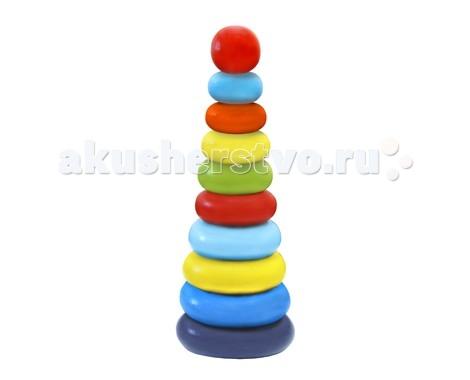 Деревянная игрушка Alatoys Пирамидка Колечки 10 деталейПирамидка Колечки 10 деталейДеревянная игрушка Alatoys 050110 Пирамидка Колечки 10 деталей.  Кольца пирамидки изготовлены из древесины березы – натурального природного материала, поэтому она абсолютно безопасна для здоровья малыша. Также игрушка не содержат мелких деталей и частей, которые ребенок мог бы отломить, поэтому можете быть абсолютно уверены в том, что пирамидка неопасна и безвредна для ребенка. В процессе сборки пирамидки, у ребенка развиваются: мелкая моторика рук, логическое мышление, внимание, память, воображение.<br>
