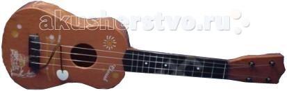 Музыкальная игрушка Тилибом Гитара 54х18 смГитара 54х18 смМузыкальная игрушка Тилибом Гитара 54х18 - увлекательная игрушка с различными звуковыми эффектами.   Гитара с мягкими безопасными струнами оформлена под дерево и выглядит, как настоящая. Упакована в удобный чехол с ремнём, в котором гитару удобно носить с собой.  Модель выполнена из качественных материалов. Игрушка поможет развить у ребенка слуховое восприятие, моторику рук и память.<br>