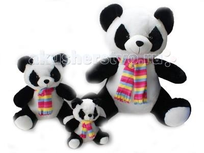 Мягкая игрушка Флиппер Тойз Панда с шарфом 30 см ФЛ405м